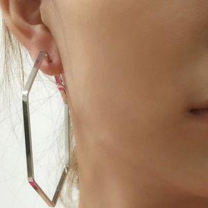 Jewelry - New - Jennifer Hexagonal Hoop Earrings